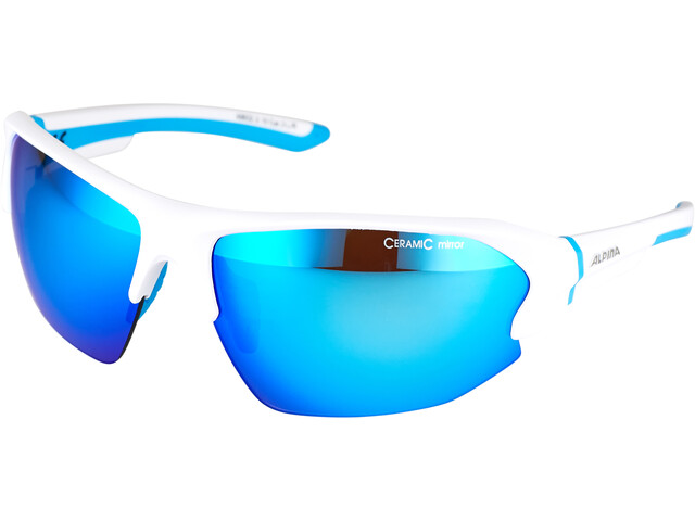 Alpina Lyron HR Gafas, white matt-cyan